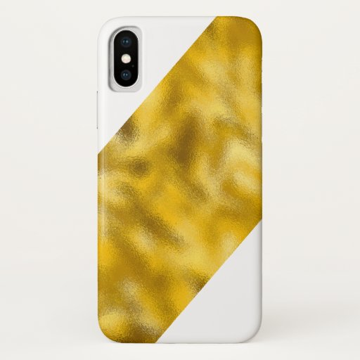 Iphone X Case Molten Gold Slice Right