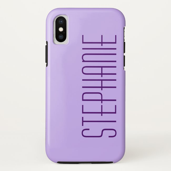 iPhone X Case, Purple, Personalized, Sturdy