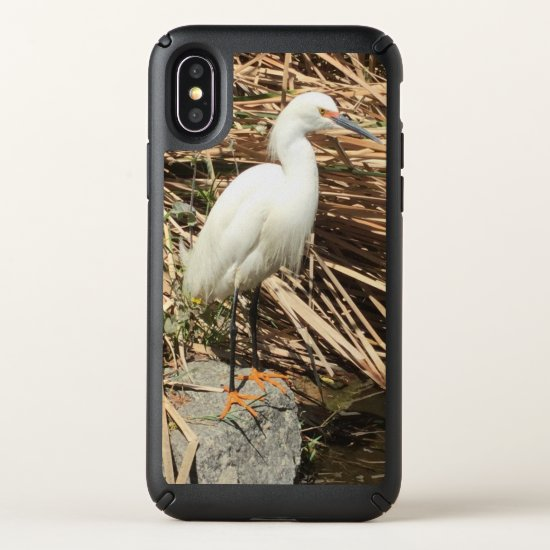 IPhone X Case Snowy Egret