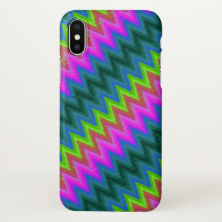 iPhone X Case Zig Zag Turbulence G24