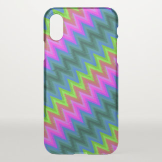 iPhone X Clearly Case Zig Zag Turbulence G24
