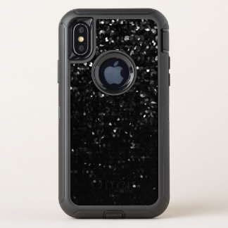 iPhone X Defender Case Black Crystal Bling Strass