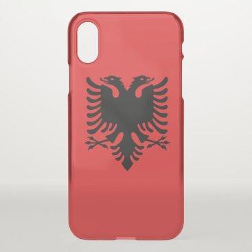 iPhone X deflector case - flag of Albania