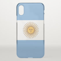iPhone X deflector case with flag Argentina