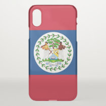 iPhone X deflector case with flag Belize