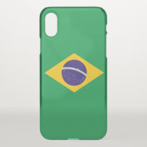 iPhone X deflector case with flag Brazil