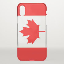 iPhone X deflector case with flag Canada