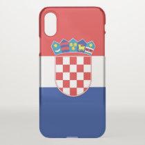 iPhone X deflector case with flag Croatia