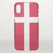 iPhone X deflector case with flag Denmark