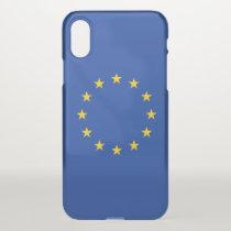 iPhone X deflector case with flag European Union