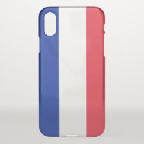 iPhone X deflector case with flag France