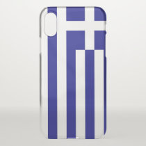 iPhone X deflector case with flag Greece