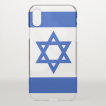 iPhone X deflector case with flag Israel