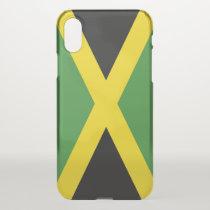 iPhone X deflector case with flag Jamaica