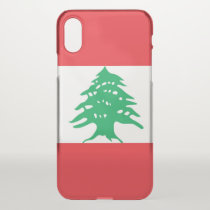 iPhone X deflector case with flag Lebanon