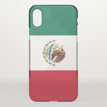 iPhone X deflector case with flag Mexico