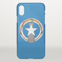 iPhone X deflector case with flag Northern Mariana