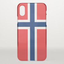 iPhone X deflector case with flag Norway