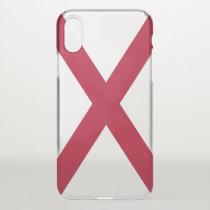 iPhone X deflector case with flag of Alabama, USA