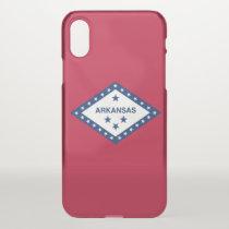 iPhone X deflector case with flag of Arkansas, USA