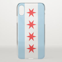 iPhone X deflector case with flag of Chicago, USA