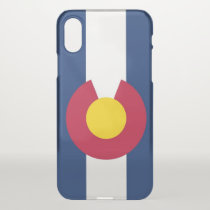 iPhone X deflector case with flag of Colorado