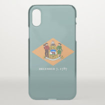 iPhone X deflector case with flag of Delaware