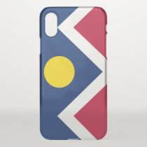 iPhone X deflector case with flag of Denver, USA