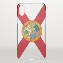iPhone X deflector case with flag of Florida, USA