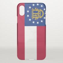 iPhone X deflector case with flag of Georgia, USA