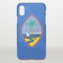 iPhone X deflector case with flag of Guam, USA