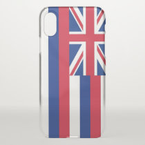 iPhone X deflector case with flag of Hawaii, USA
