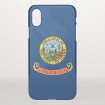 iPhone X deflector case with flag of Idaho, USA