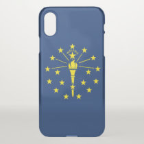 iPhone X deflector case with flag of Indiana, USA