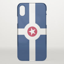 iPhone X deflector case with flag of Indianapolis