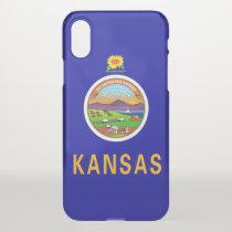 iPhone X deflector case with flag of Kansas, USA