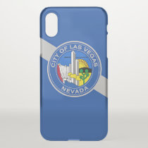 iPhone X deflector case with flag of Las Vegas