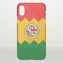 iPhone X deflector case with flag of Los Angeles