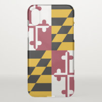 iPhone X deflector case with flag of Maryland, USA