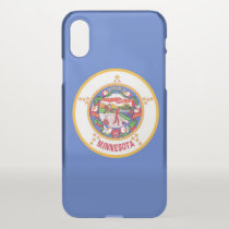 iPhone X deflector case with flag of Minnesota