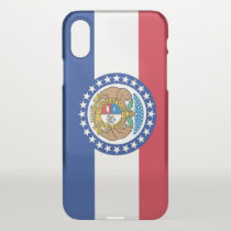 iPhone X deflector case with flag of Missouri