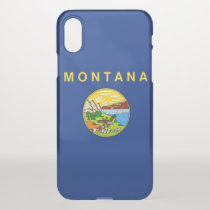 iPhone X deflector case with flag of Montana
