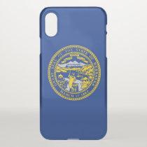 iPhone X deflector case with flag of Nebraska, USA