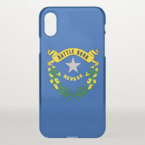iPhone X deflector case with flag of Nevada, USA
