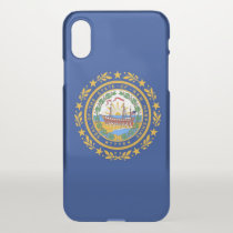 iPhone X deflector case with flag of New Hampshire