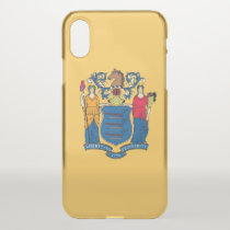 iPhone X deflector case with flag of New Jersey
