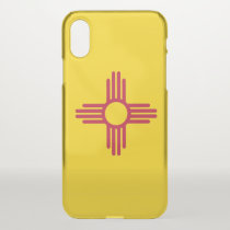 iPhone X deflector case with flag of New Mexico