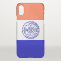 iPhone X deflector case with flag of New York, USA