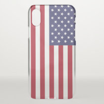 iPhone X deflector case with flag of USA