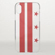 iPhone X deflector case with flag of Washington DC